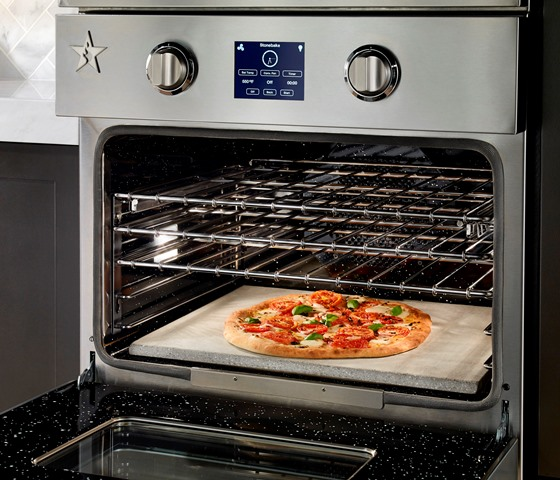 BlueStar_Double_Electric_Wall-Oven-Open_Pizza