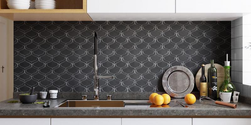 Emser Tile Myth Arabesque in Pewter