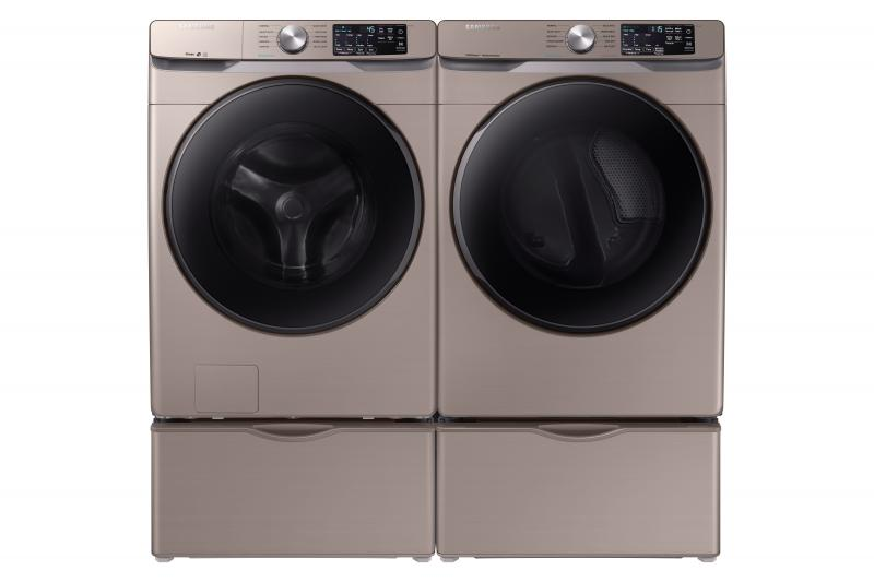 samsung laundry machines in Champagne finish