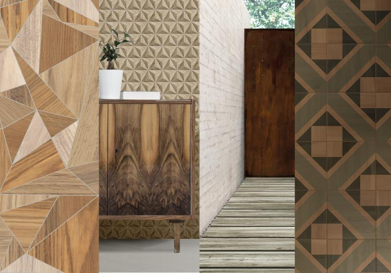 Against the Grain- Wood tile trend examples