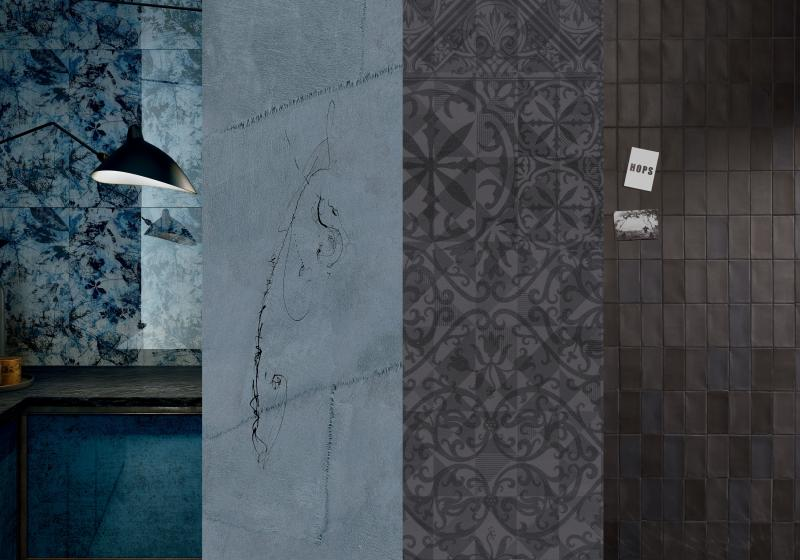 Black and Blue tile trend examples