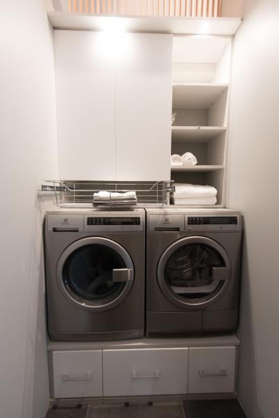 "An Electrolux washer and dryer were used in ""Making Room."""