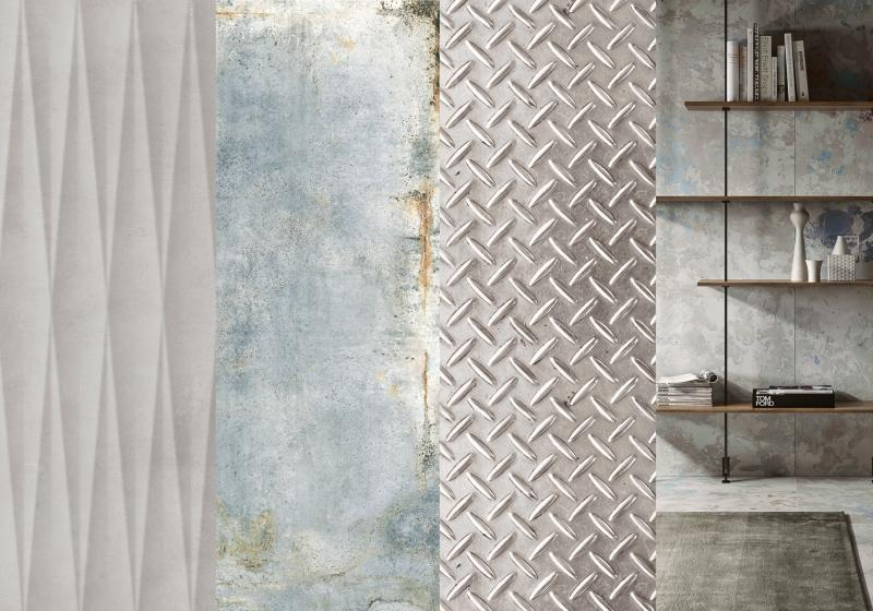 Gritty Chic tile trend examples