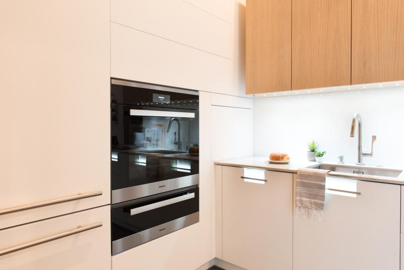 "Miele appliances were used in the ""Making Room"" kitchen"