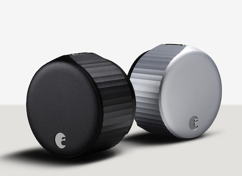 August Wifi Smart lock Silver and Matte Black finishes product shot