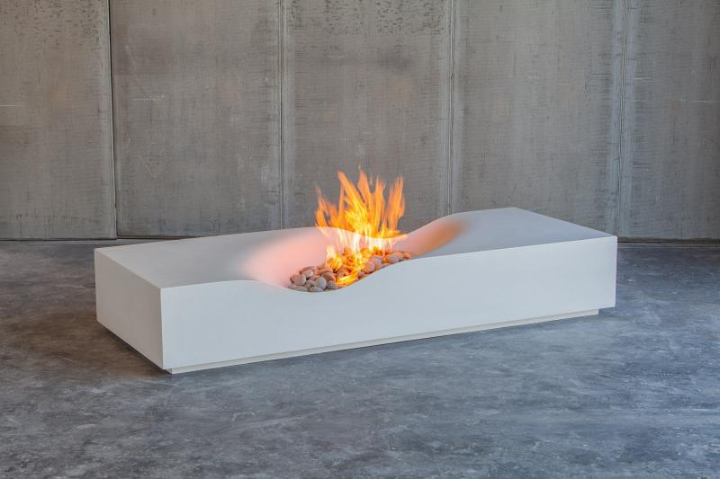 Paolo Lumacast outdoor firepit in white