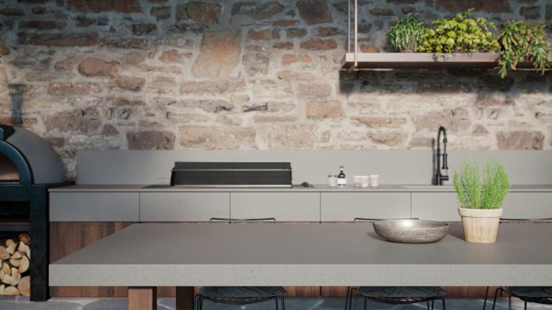 Caesarstone quartz exterior counter