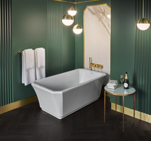Freestanding art deco bathtub DXV