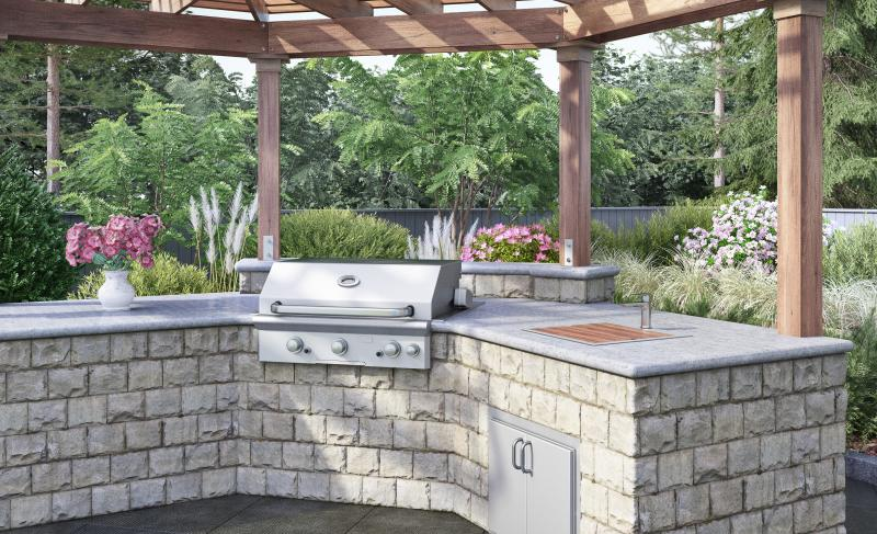 Outdoor stainless steel sink