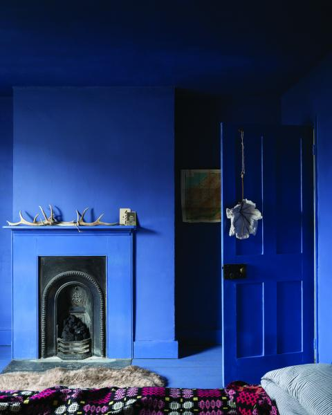 Pitch Blue bedroom paint