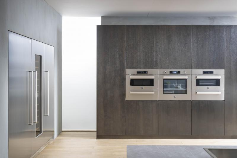 Bertazzoni wall ovens and fridge