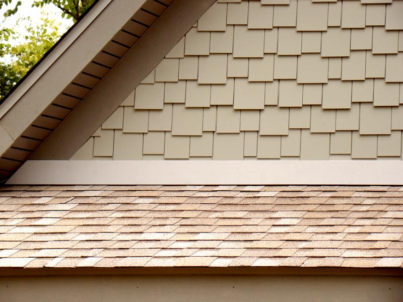 AZEK Shingle staggered composite