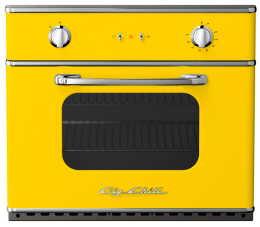 Big Chill yellow wall oven