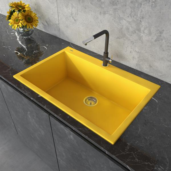 Ruvati yellow kitchen sink